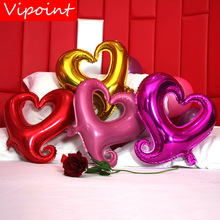 VIPOINT PARTY 18inch Love Heart Foil Balloons 10 Pieces  Wedding Event Christmas Halloween Festival Birthday Party HY-154 vipoint party love heart gridding and 5inch latex balloons wedding event christmas halloween festival birthday party hy 379