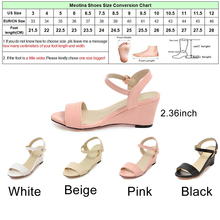 Meotina Shoes Women Sandals Summer Women Wedge Sandals Casual Buckle Ladies Shoes Open Toe High Heels Pink White Black 34-43