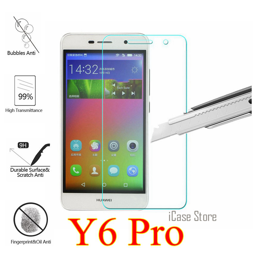 9H Tempered Glass For <font><b>Huawei</b></font> Y6Pro <font><b>TIT</b></font>-U02 <font><b>Y6</b></font> <font><b>Pro</b></font> <font><b>TIT</b></font>-<font><b>AL00</b></font> Screen Protector SKLO <font><b>lcd</b></font> Film en verre For <font><b>huawei</b></font> y 6pro <font><b>y6</b></font> <font><b>pro</b></font> case image
