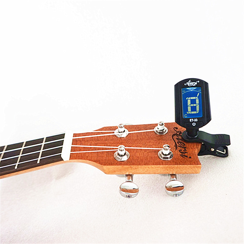 China Aiersi Digital Clip Chromatic Tuner For Guitar Ukulele Violin Bass Guitar Tuner