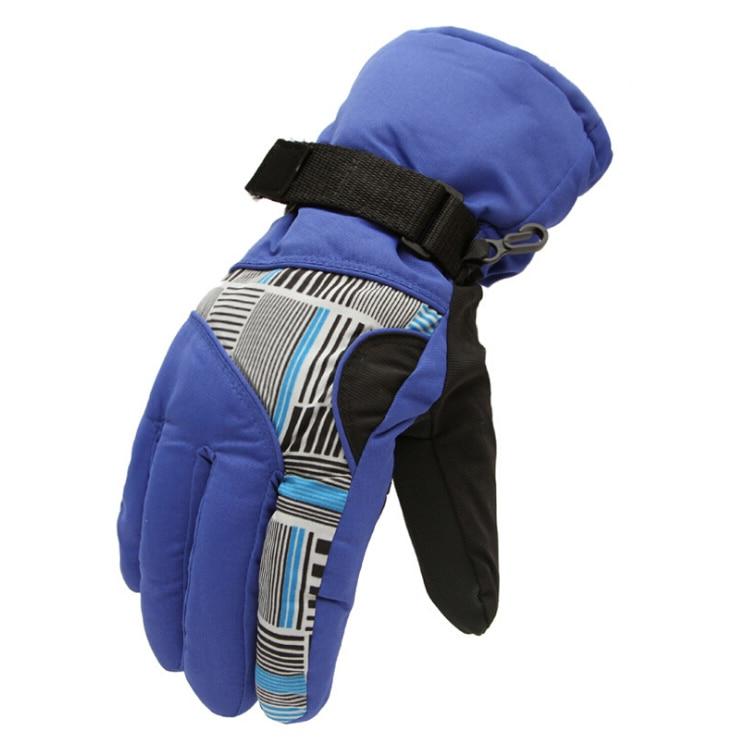 Winter Man Outdoor Sports Waterproof Thickening Climbing Skiing Gloves(Blue)
