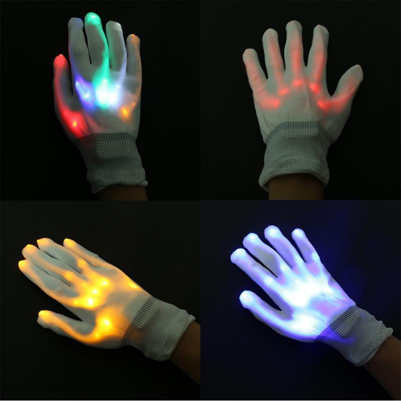 1PC LED Glove Light Flashlight Stage Show Bar For Halloween Christmas New Year Festival Llanternas Decoration Gloves Kids Gifts