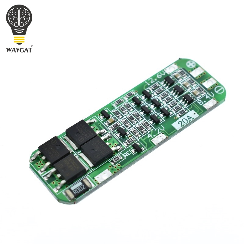 WAVGAT 3S 20A 18650 Li-ion Lithium Battery Charger PCB BMS Protection Board For Drill Motor 12.6V Lipo Cell Module 64x20x3.4MM image