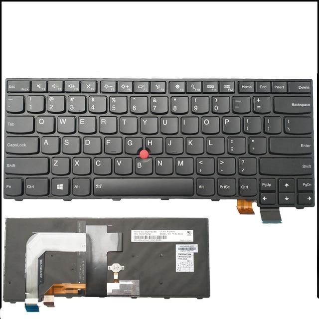 US $46 88 |New Original for Lenovo ThinkPad T440 T440P T440S T431S T450  T450S T460 L400 L450 US Backlit Keyboard 04X0101 04X0139-in Replacement