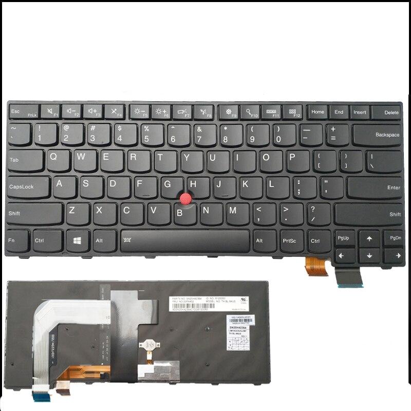Nouveau Original pour Lenovo ThinkPad T440 T440P T440S T431S T450 T450S T460 L400 L450 US Rétro-Éclairé Clavier 04X0101 04X0139