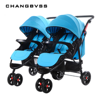 Luxury Baby Stroller,Detachable High Landscape Foldable Twins Multiple Births Baby Carriage,Baby Pushchair for Newborn carrinho