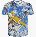 2016 Hot Sale Men's 3d Funny Printed T-shirts Casual Short Sleeve O-neck Hip Hop Style Tees 09