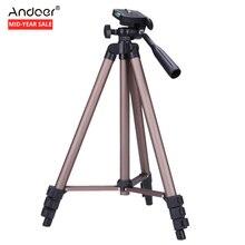 Andoer WT3130 Protable Caméra Trépied Stand avec Culbuteur pour Canon Nikon Sony DSLR Caméra Caméscope trépied stand Charge 2.5 kg(China)