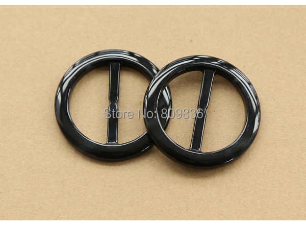 6 unids/lote hebilla redonda elegante para capa de polvo anillos negros hebilla para accesorios de tela de ropa tamaño interno 30mm 37mm (ss-4286-581)