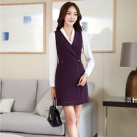 Autumn Winter Slim Fashion OL Styles Professional Business Blazers Suits With Blouses And Dress For Ladies