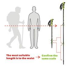 210g/pc Carbon Fiber External Quick Lock Trekking Pole Hiking Telescope Stick Nordic Walking Shooting Crutch Senderismo