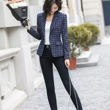 Lenshin Soft and Comfortable High-quality Plaid Jacket Blazer
