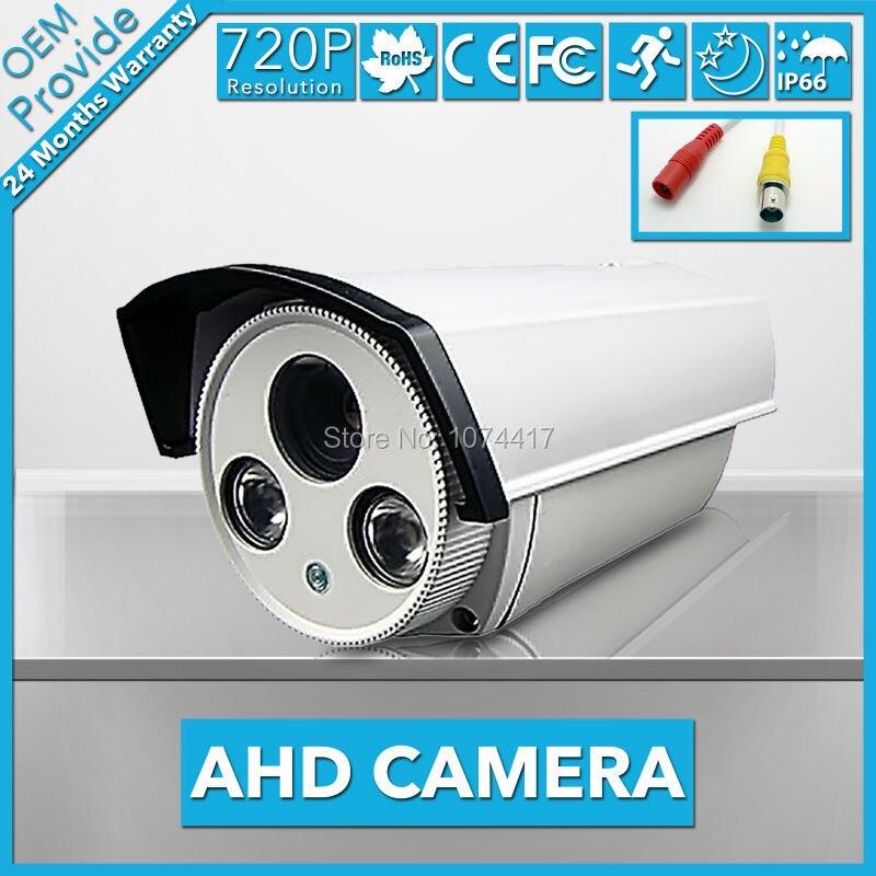 AHD2100KH-TE CCTV 1/4''CMOS1004  2PCS LED 720P HD AHD Camera  Security system with IR waterproof CCTV camera 2016 economic cmos 2 0 megapixel 1080p vandalproof waterproof ahd dome cctv camera system