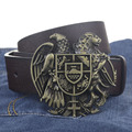Eagle and Leopard buckle PU leather belt big buckle man belts 2015 new style fashion great leather belts 7798