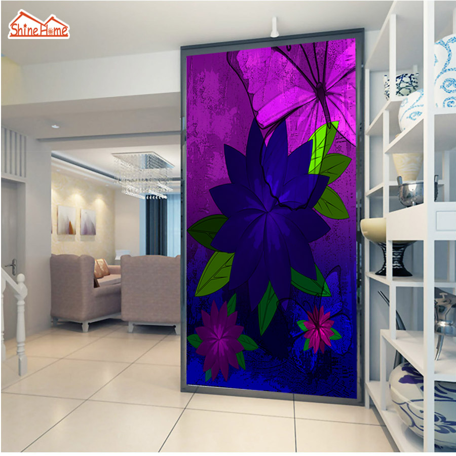 ShineHome-Chinese Purple Rose Flower Wallpapers Custom Mural for 3d Living Rooms Walls Paper Murals Decorative Wallpaper Roll shinehome red rose bloom golden golden wallpaper for 3d rooms walls wallpapers for 3 d living room wall paper murals mural roll