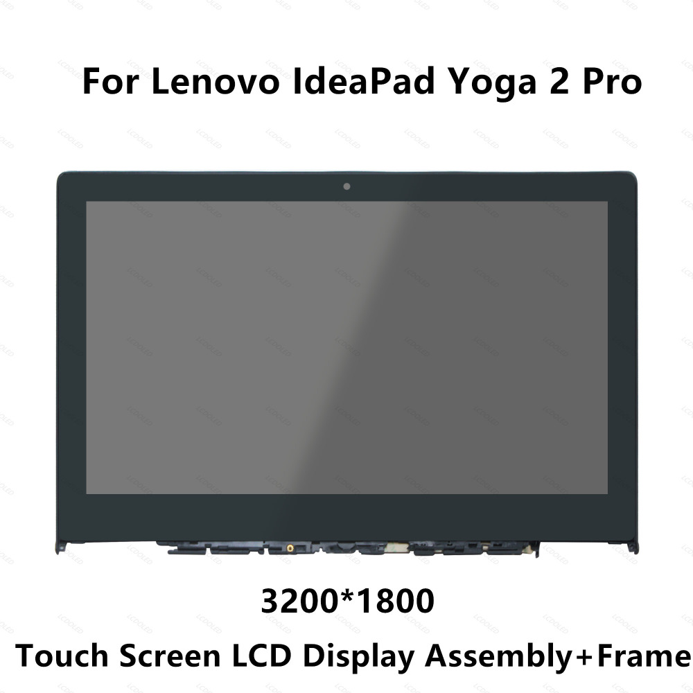 Full LCD Display Panel Touch Screen Glass Monitor Digitizer Assembly with Frame For Lenovo IdeaPad Yoga 2 Pro 20266 LTN133YL01 for lenovo vibe z2 pro k920 lcd screen display with digitizer touch screen frame assembly 4g version 100 page 3