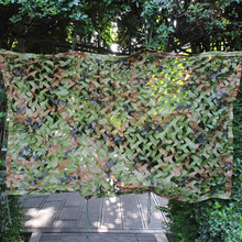 1X1 1X2 1.5X2M Jungle Camouflage Net Tent Hunting Camping Military Camouflage Netting Beach Sun Shelter Outdoor Car Shade Cover