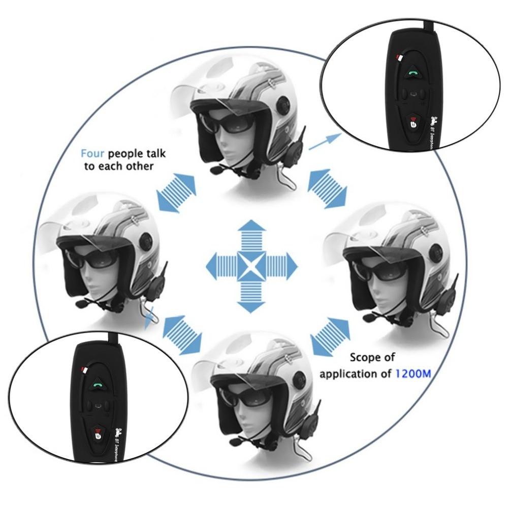 High Quality V2-500M Bluetooth Motorcycle Helmet Intercom Interphone 2 Riders BT Walkie Talkie For Skiing Cycling Helmet 2pcs mini walkie talkie uhf interphone transceiver for kids use two way portable radio handled intercom free shipping