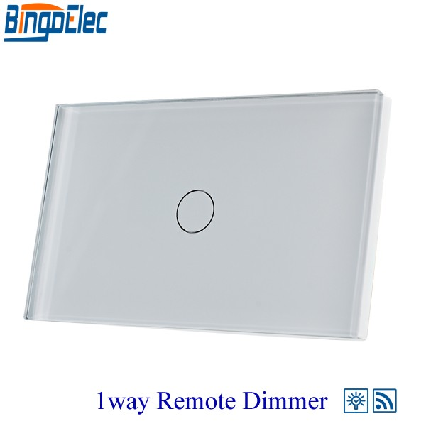 Hot Sale Bingoelec AU/US Standard 1 Gang 1 Way Touch Remote Dimmer Switch for Light  RF433 Remote Switch 110-220 V Good Quality hot sale good quality inductive