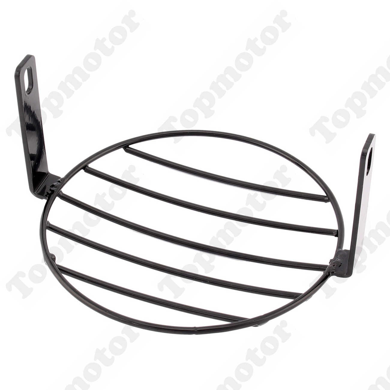 Black Vintage Grill Motorcycle Side Mount Headlight Cover