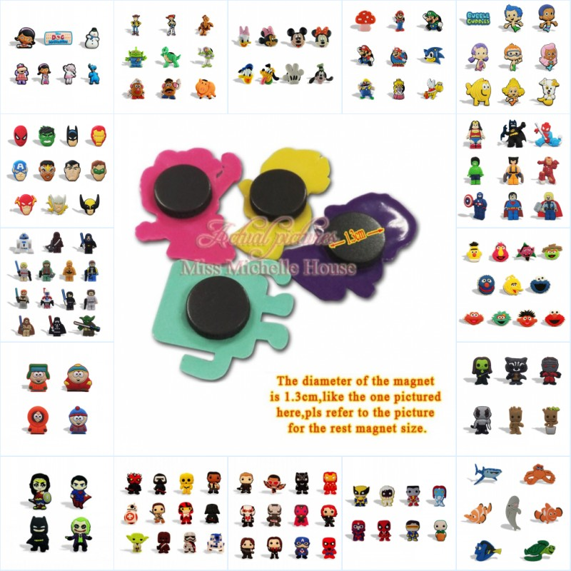 1000 Pcs Cartoon Pvc Magnetische Stickers Wreker Star Wars Justice League Game Of Thrones Schoolbord/magneet Kids Gift