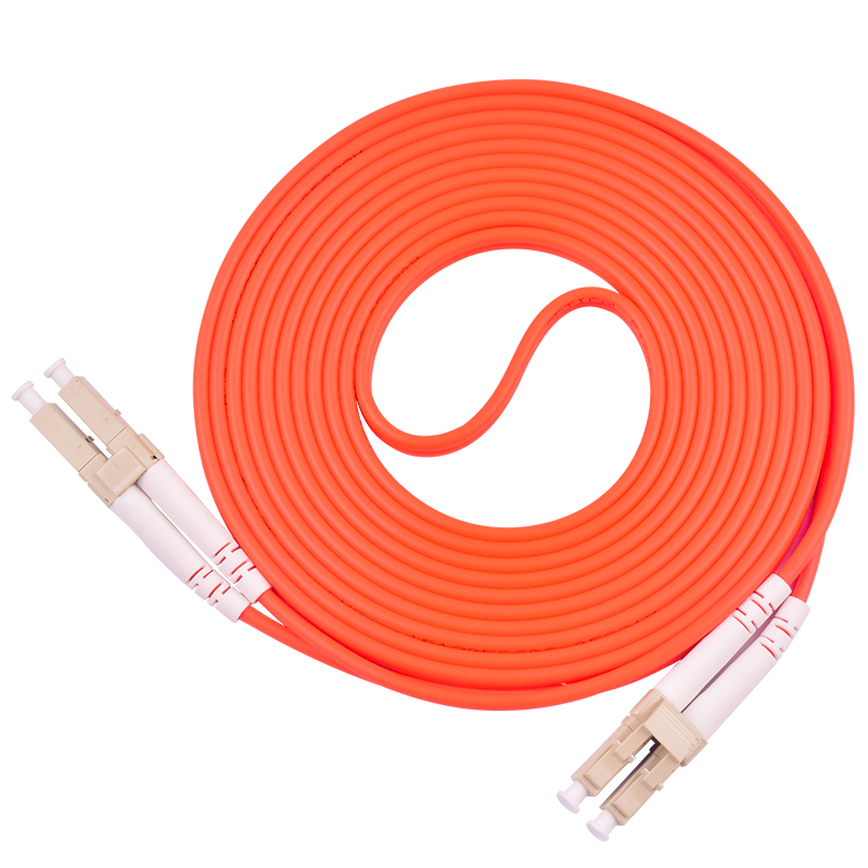 5PCS /Lots  Duplex Multimode LC /UPC To LC/UPC Fiber Optic Optical Patch Cord