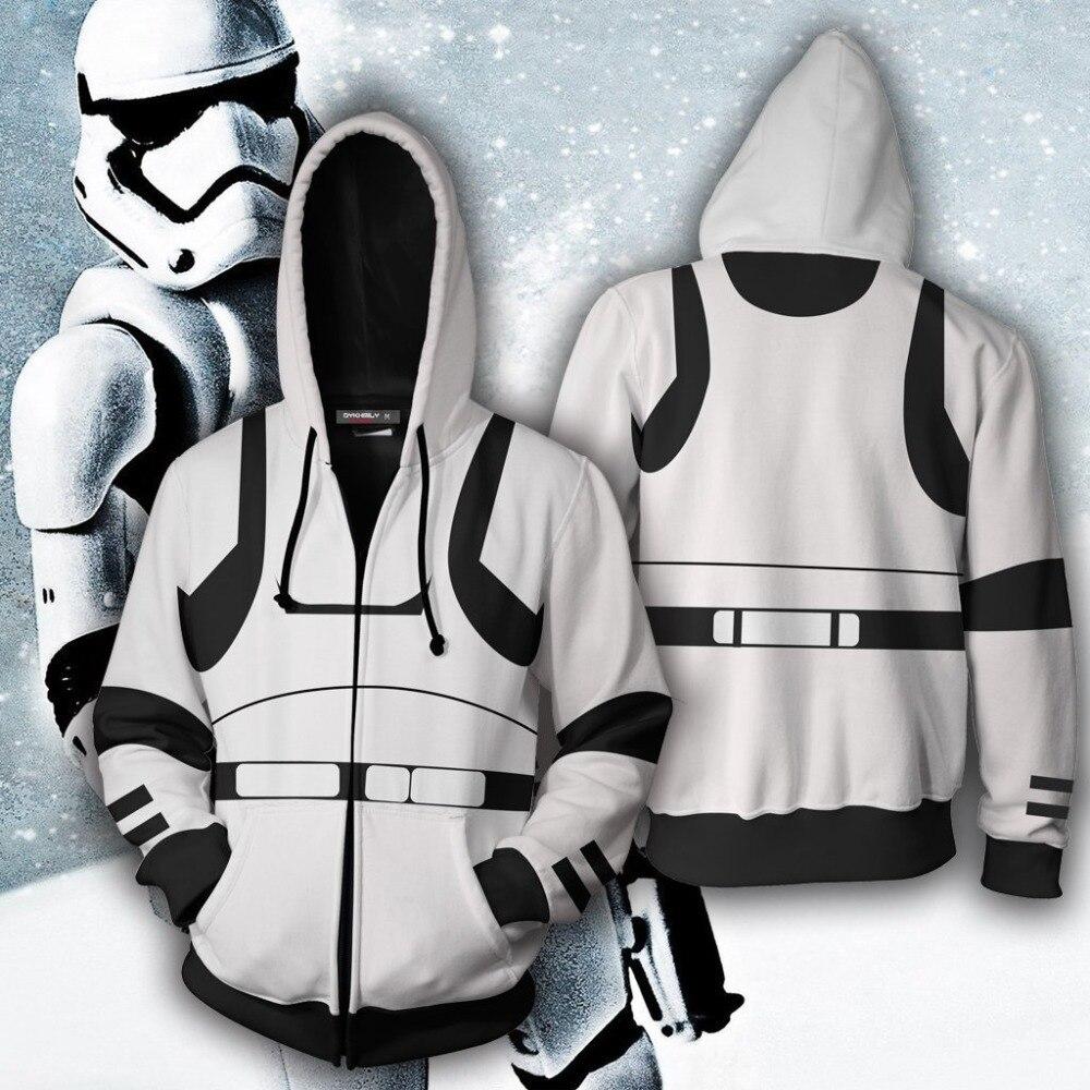 Star Wars Hoodies Print 3D Stormtrooper Cosplay Sweatshirt  Casual Male Tracksuits Darth Vader Jacket Fashion Tops S-5XL