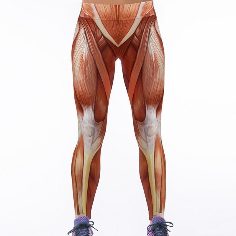 ᐅ2018 caliente nueva arival 3D mujeres músculo impreso leggings ...