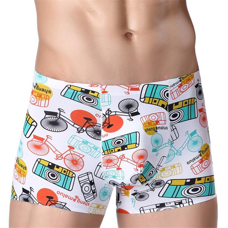 And Children Women Generous New Brand Sexy Underwear Men Boxers Shorts Ice Silk U Convex Pouch Printed Underpant Male Calzoncillos Marca Plus Size L-3xl Suitable For Men
