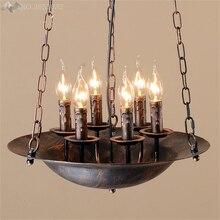Lámpara colgante de tetera Retro creativa Amecican, lámpara colgante de hierro para sala de estar, restaurante, Bar, cocina, accesorio de iluminación para el hogar