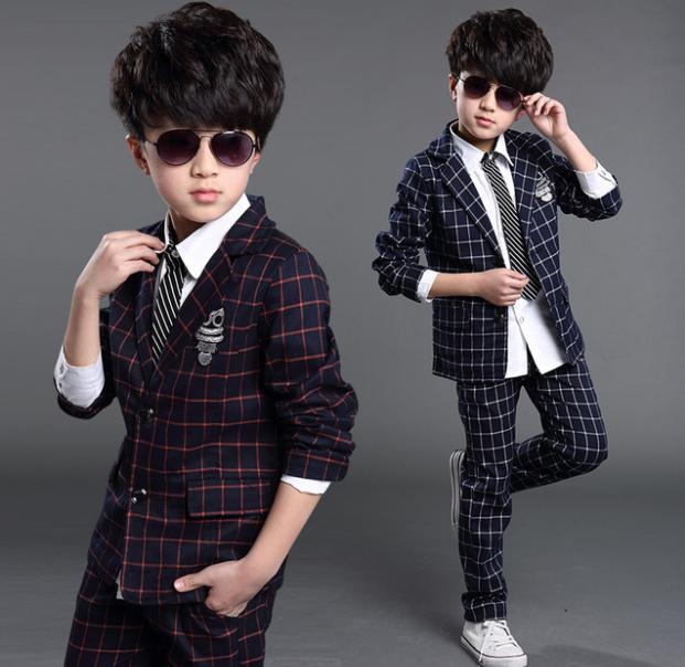 Children's wear boy suit suit, autumn winter flower boy dres