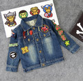 Kids/Children Spring/Autumn Applique Baby Milo Jeans Jacket Cotton Denim Toddler Jackets Coats Jas Chaqueta For Boys/Garcon