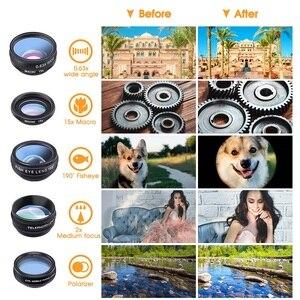 Image 4 - TRAVOR Phone Lens Kit Kaleidoscope+2X telescope Lens Fisheye Lens Wide Angle macro Lens CPL Filter For iphone Xiaomi Samsung