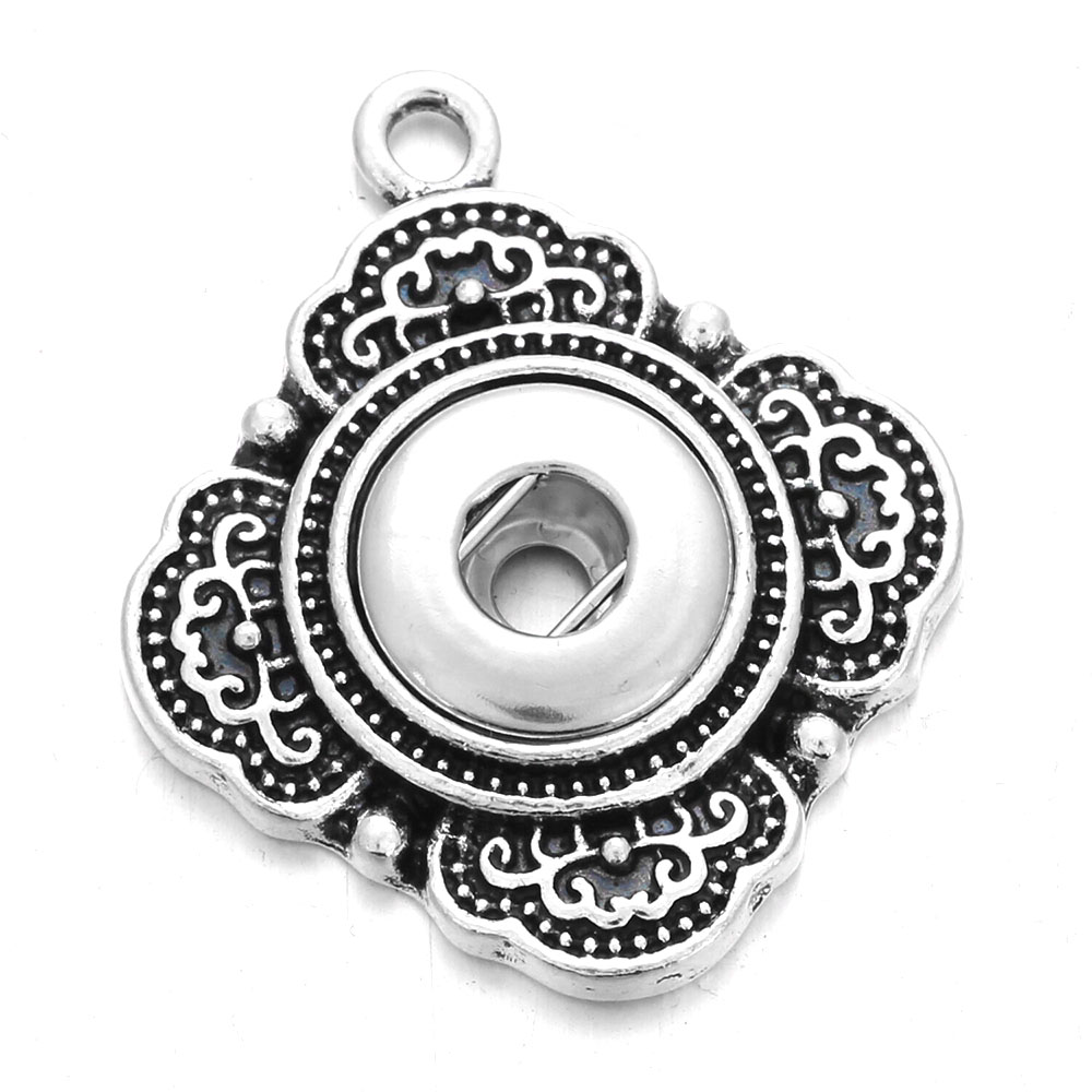 6pcs/lot <font><b>Snap</b></font> <font><b>Jewelry</b></font> <font><b>12mm</b></font> <font><b>Snap</b></font> <font><b>Button</b></font> Pendant Necklace <font><b>Snap</b></font> Accessoris & Findings to Make DIY Necklaces image