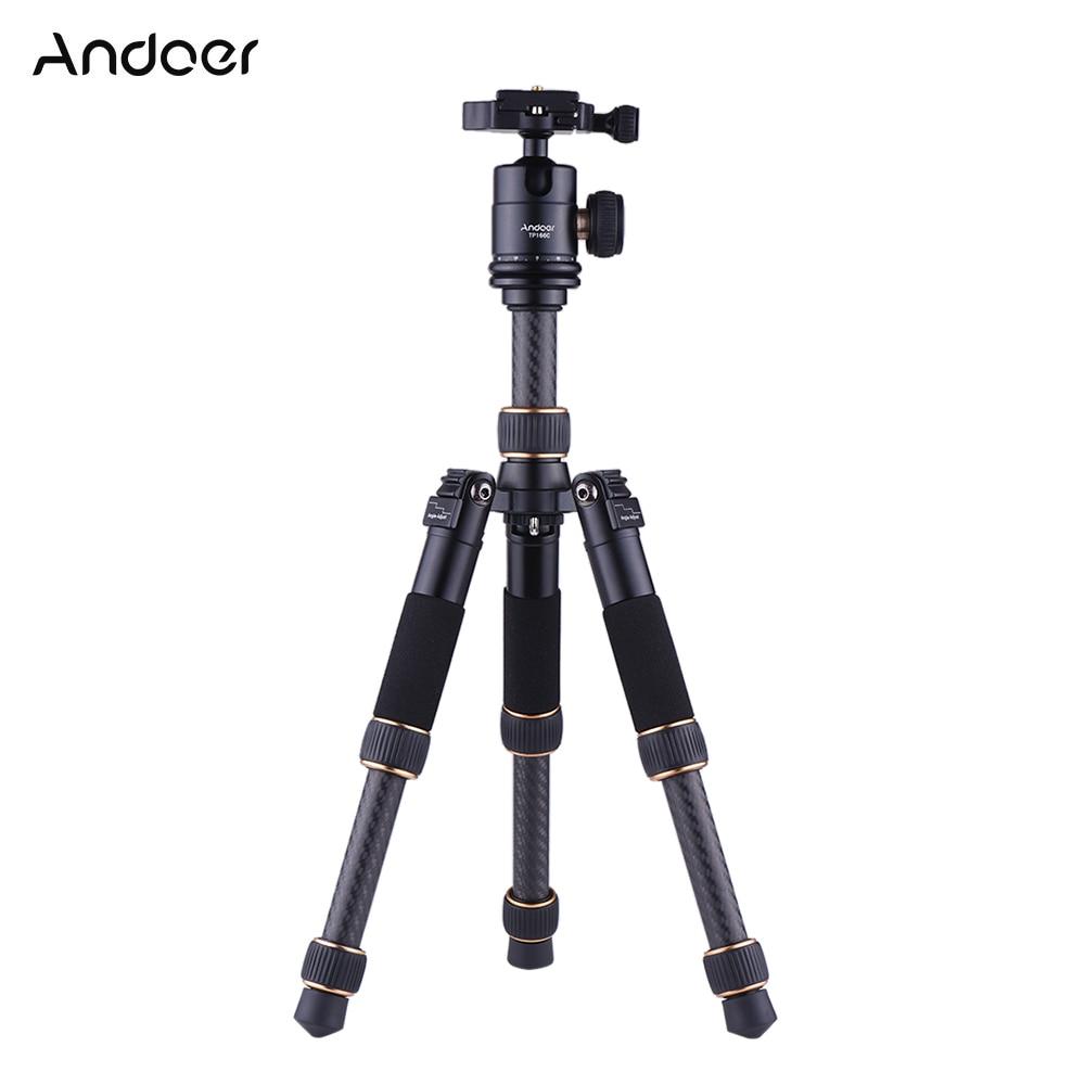 Andoer gorillapod TP166C Lightweight Carbon Fiber Table Mini Tripod with Ball Head Kit for Canon Nikon