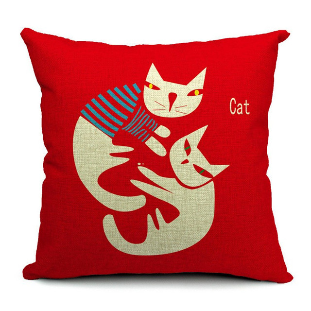 Cushion Cat Print cushion/pillow Home decorating