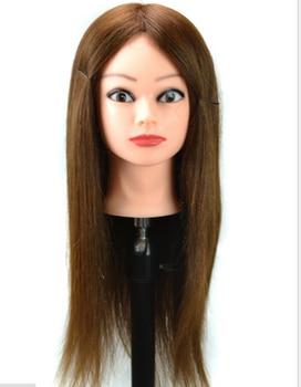 100% human hair Practice Hairdressing Training Head Mannequin training head human hair training head