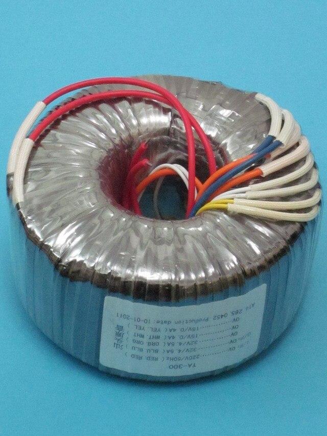 2*32V 4.5A 2*15V 0.4A Toroidal transformer ring copper custom transformer 220V input 300VA transformer for power supply toroidal transformer copper custom transformer 220vac 300va for amplifier