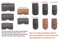 Vetical Horizontal Man Belt Clip Mobile Phone Cases Pouch Outdoor Bags For Sony Xperia C3 Wiko