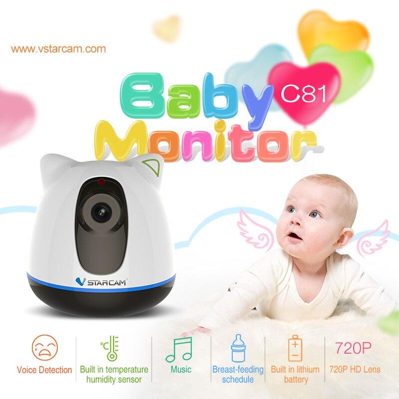 imágenes para VStarcam Wireless Baby Monitor con visión Nocturna Claramente de La Batería 2 Way audio Llorando de Humedad Temperatura de Seguridad IP de la Cámara w