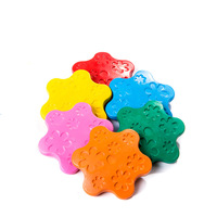 6 Colors Non Toxic Wax Creative Paintbrush Crayons Ring Shape Children S Gifts Early Puzzle Infant