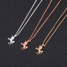 imixlot Accessories Fashion Popular Jewelry Pendant Gift Women Unicorn Chain Necklace Simple Temperament Clavicle Necklace цены