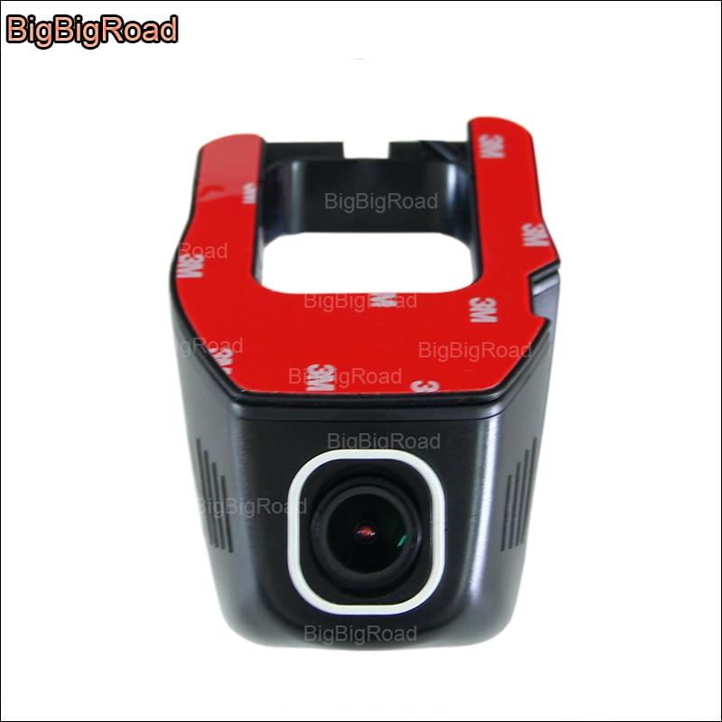 BigBigRoad Car wifi DVR Video Recorder Hidden installation Novatek 96655 Car black box Dash Cam night vision For Skoda Superb bigbigroad for hyundai ix25 car wifi dvr video recorder novatek 96655 fhd 1080p car black box hidden type dash cam g sensor