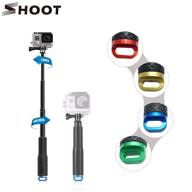 SHOOT 19-49cm Portable Gopro Selfie Stick Extendable Monopod For Gopro Hero 4 3 HERO5 Session Xiaomi yi 4K SJCAM SJ4000 Eken h9