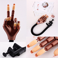 Professional Nail Trainer Manicure Practice Hand,Nail Art Hand Model Fake Training Hand  with CD for best Learning