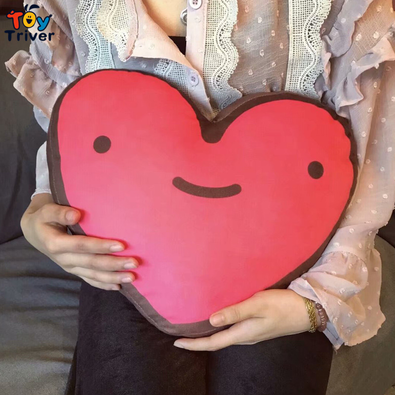 Emoji Smiley Face Red Love Heart Plush Toy Triver Pillow Cushion Kawaii Doll Kids Girlfriend Birthday Gift Home Bedroom Decor in Movies TV from Toys Hobbies