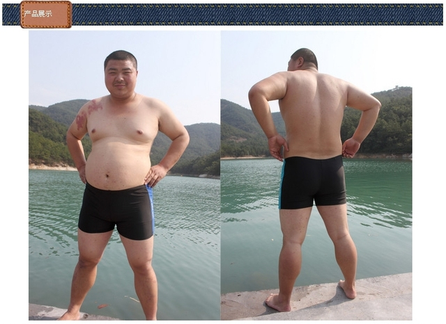 b83878046f Men's boxer swimsuit fashion hot springs swimming trunks fat plus fat XL  wholesale manufacturers High quality swimwear fabric