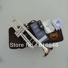 Trumpet Bb Bach trumpet For Sale LT180S to 37 Instrument B Surface Silver Plating Exquisite Design Durable Wholesale 2016 New