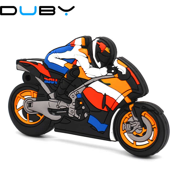 Usb flash drive pen drive GB 8 4 GB GB 32 16 GB Motorcycle Racer Plástico Modelo flash USB 2.0 unidade pen drive memory stick