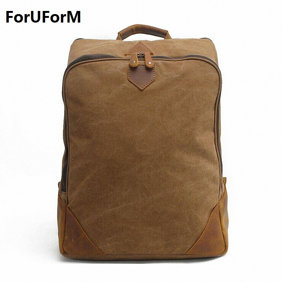 mochila 15 inch notebook Canvas backpack zipper men rucksack laptop travel bag Schoolbags men Vintage college school bag LI-1378 men canvas 15 inch notebook backpack multi function travel daypack computer laptop bag male vintage school bags retro knapsack